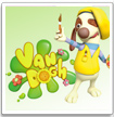 van dogh dog puzzles painter cartoon show