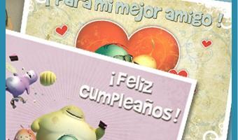 tarjetas felicitacion postales cumpleaños amigos