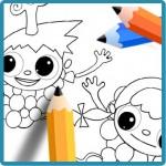 pintar colorear dibujos de Telmo y tula