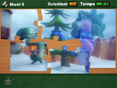 juego app niños glumpers jigsaw puzzle