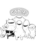 Coloring pages, print, color paint pictures and draws Glumpers, group glumpers