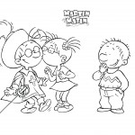 coloring pages of Martin Morning kissing a friend