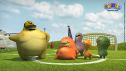 Download Glumpers playing soccer wallpaper