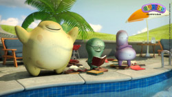 Download wallpaper, summer holidays on the swimming pool