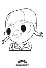 Coloring pages cartoon, print, color and paint draws, tula big smile