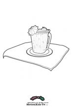 Download Coloring pages cartoon, coloring pictures, painting draws, food picture,, milkshake