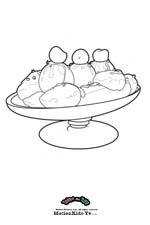 Download Coloring pages cartoon, coloring pictures, painting draws, food picture, banana icecream