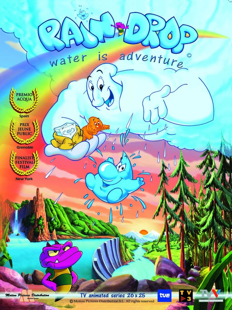 Raindrop's TV show flyer. Educational environmental cartoons for kids