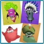 juego para niños para crear avatar glumpers