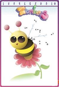 jugar a unir los numeros imagenes de dibujos para imprimir reina abeja