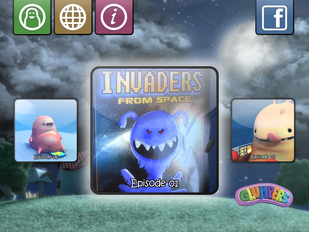 app para iphone y ipad para niños de los Glumpers