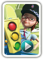 cartoon to learn child basic traffic safety rules, educational videos