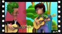 Cartoon video of a musical instrument, the guitar