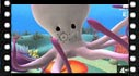 Educational cartoon videos to learn sea animals: octopus