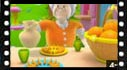 Educational cartoon videos to learn vegetable and fruit: oranges