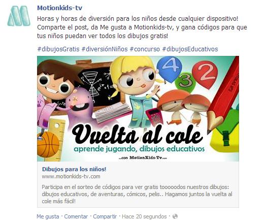 Post facebook concurso dibujos gratis