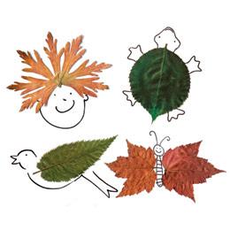 personajes-otono-divertidos-jugar-ninos-hojas-arboles