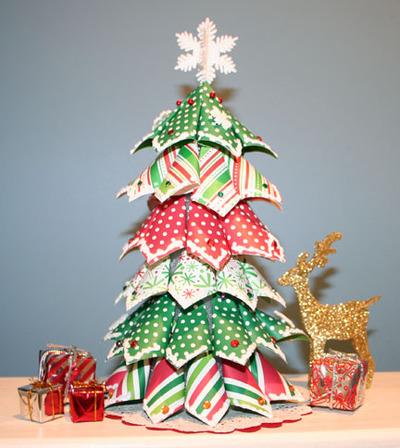 Arbol de navidad con servilletas de papel