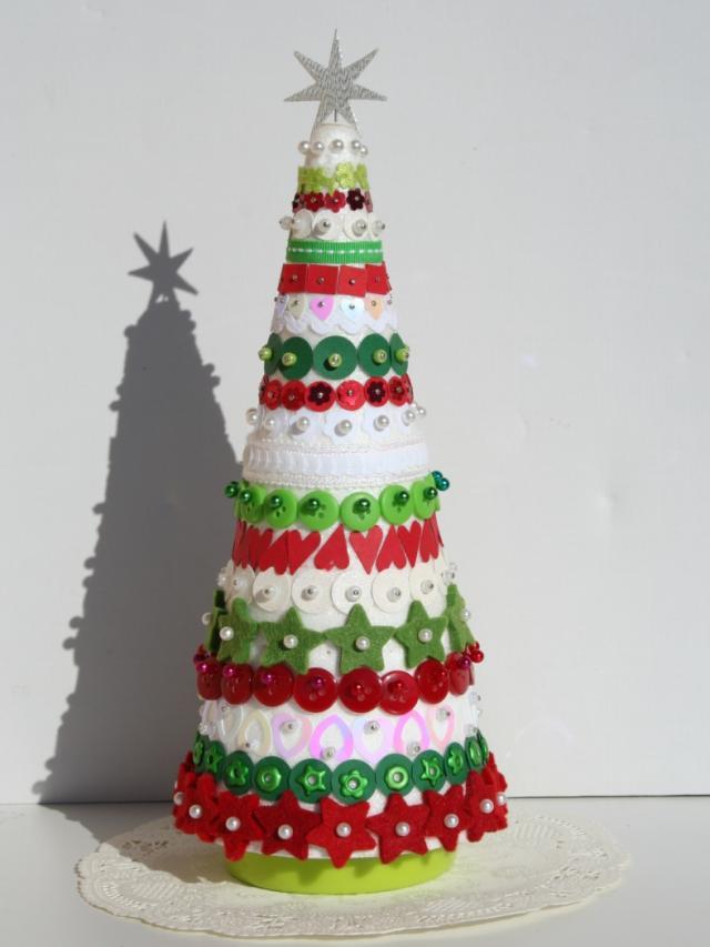 Ideas de árbol de Navidad, Manualidades decoración navidades para ...