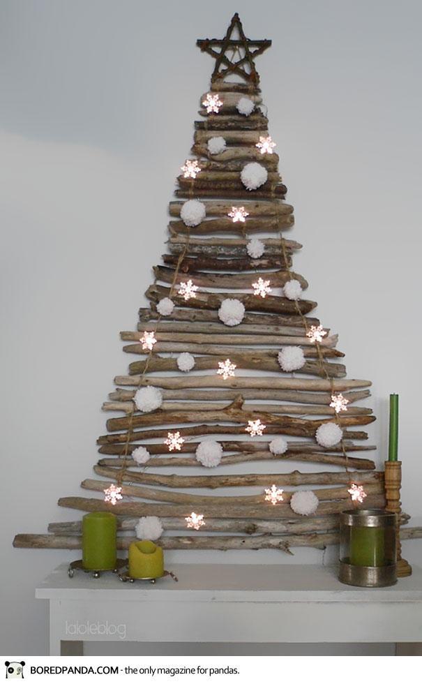 Arbol navidad decoración navideña pared