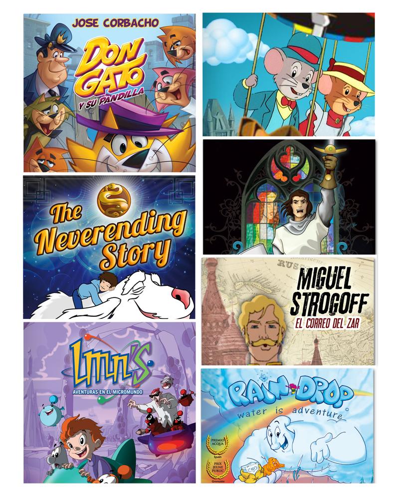 varios carteles de peliculas de caricaturas animadas para niños