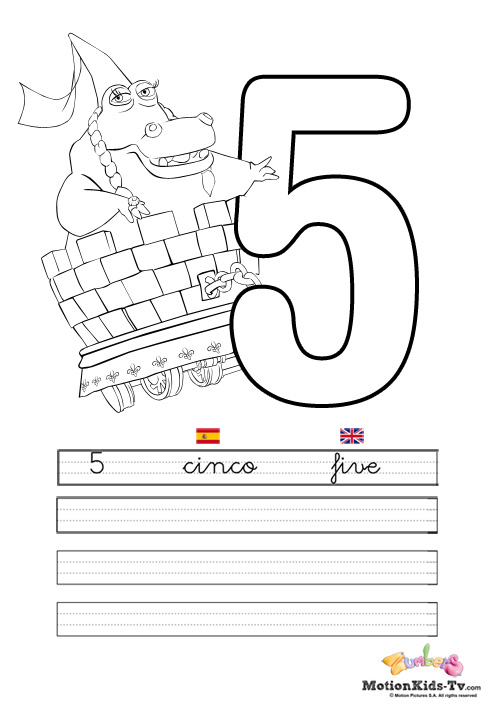Learn the numbers from 1 to 10, educational coloring pages ...