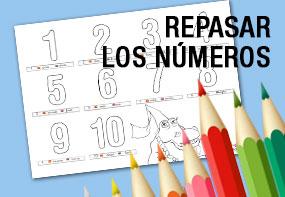 Dibujos para colorear y aprender los numeros en español e ingles