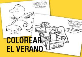 Coloreables de verano para niños, dibujos