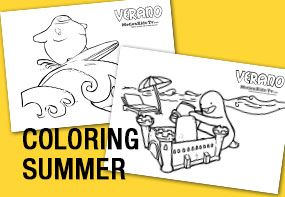 Coloring pages summer, activities for kids