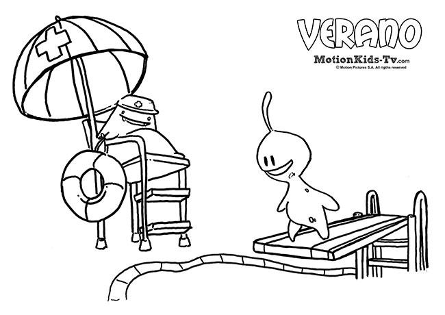 Dibujos para colorear en verano con los niños | MotionKIDS-tv ...