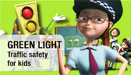Green light, traffic safety videos for kids