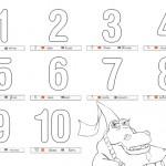 Los numeros para colorear y aprender