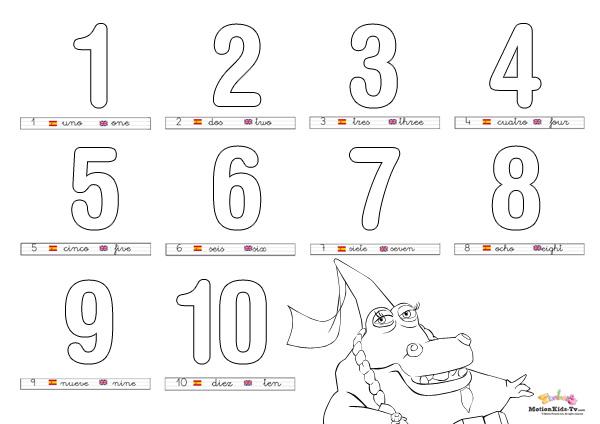 Aprender Los Números Del 1 Al 10 Fichas Educativas Para