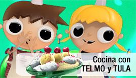 Telmo y Tula cocinar con niños, dibujos animados