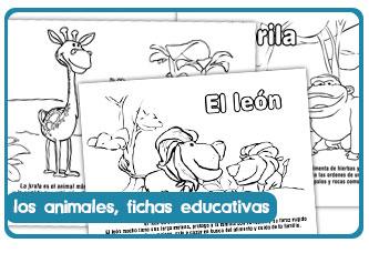 Fichas educativas sobre animales