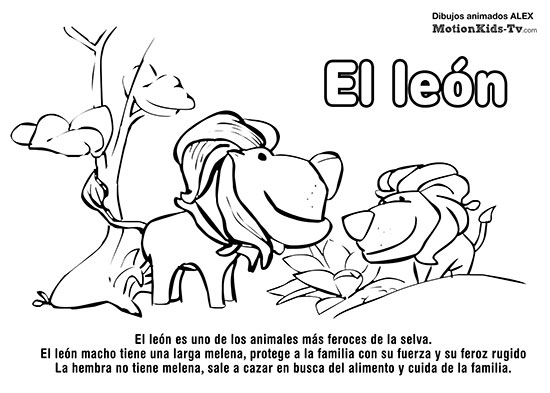 Fichas educativas de animales. Descargar, colorear… y aprender ...