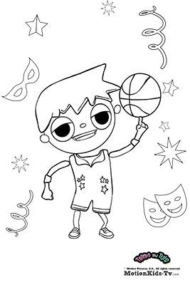 colorear-carnaval-telmo-baloncesto