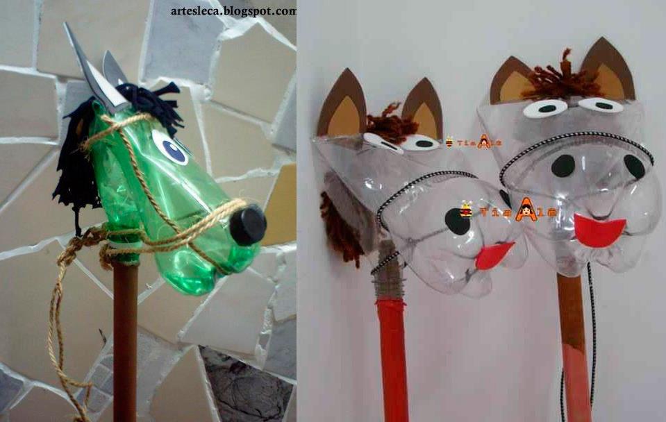 disfraces-reciclados-complementos-caballo-botellas-disfraces-carnaval