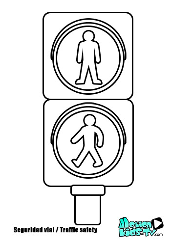 pedestrian traffic light coloring page
