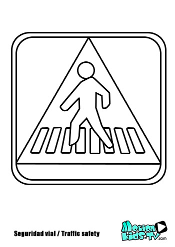 Pedestrian crossign sign