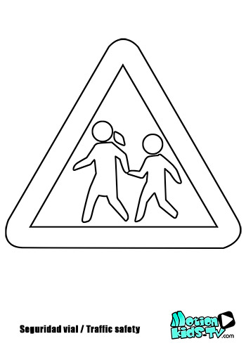 Warning sign school or kids zone