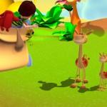 alex-dibujos-animados-aprender-animales-jungla-jirafas