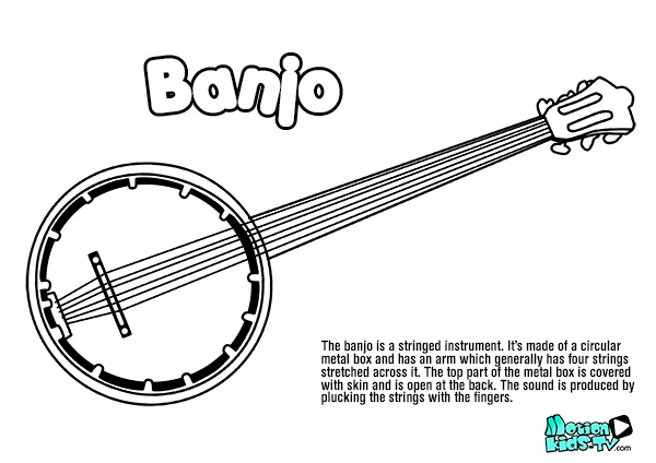 banjo-drawing-coloring-pages-instruments