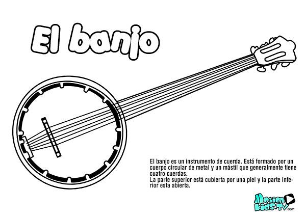 dibujo-banjo-colorear-instrumentos
