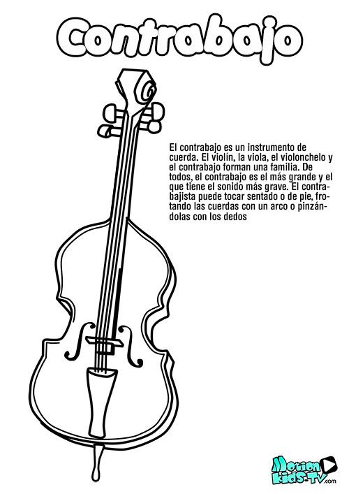 dibujo-contrabajo-colorear-instrumentos