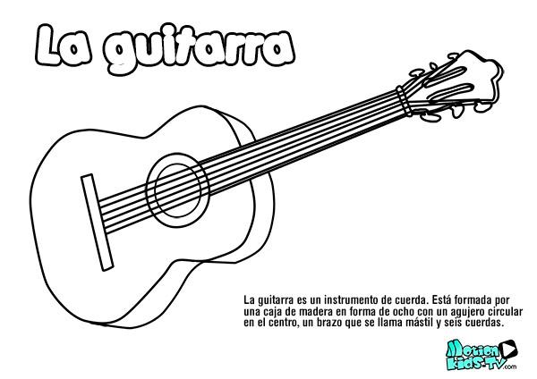dibujo-guitarra-colorear-instrumentos