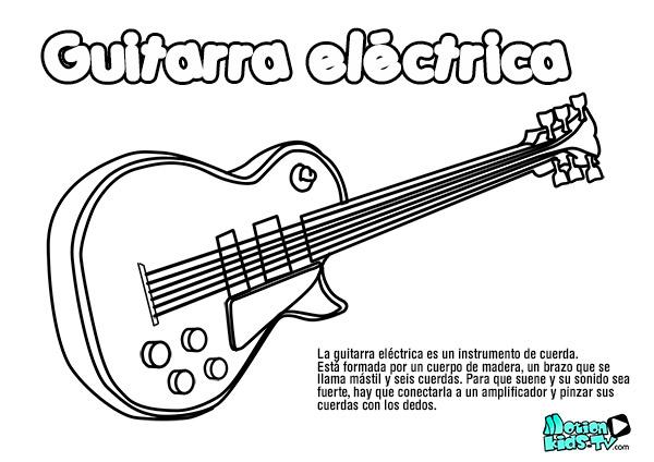 dibujo-guitarra-electrica-colorear-instrumentos