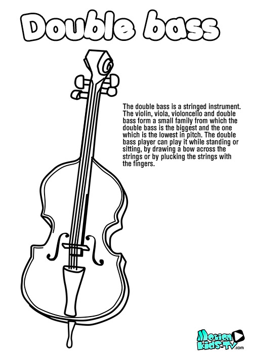 double-bass-drawing-coloring-pages-instruments