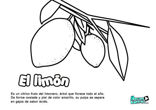 descargables educativos dibujos para colorear, el limón