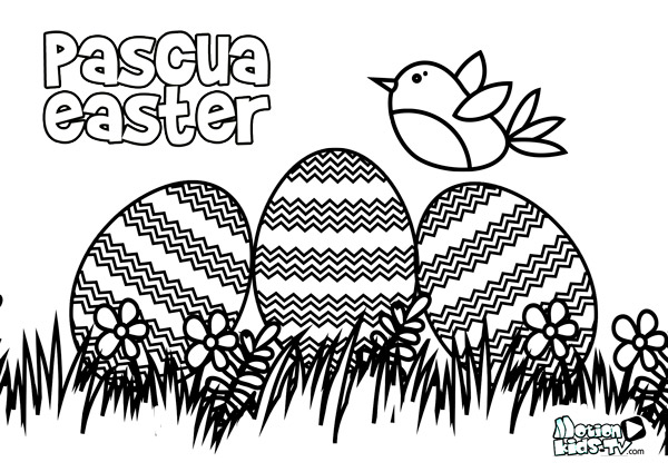 easter eggs coloring pages activities for kids